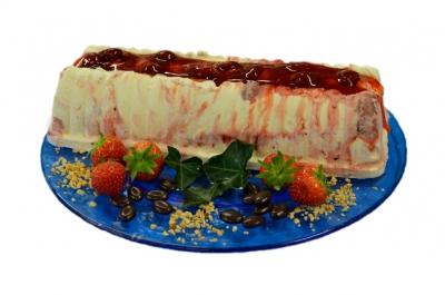 Strawberry cheesecake roomijsstam